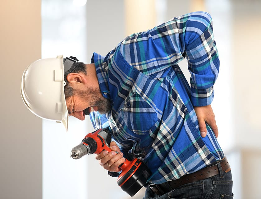workplace back injury collinsville il